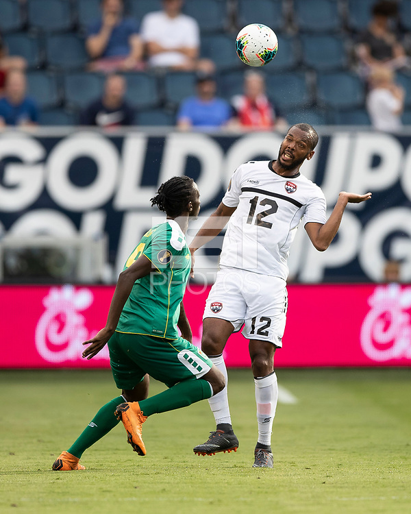 KANSAS CITY, KS - JUNE 26: Carlyle Mitchell #12, Sheldon Holder #9 during a game between Guyana and Trinidad