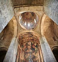 "picture & image of the interior and frescoes of the Samtavisi Georgian Orthodox Cathedral, 11th century, Shida Karti Region, Georgia (country)<br /> <br /> Built during the so called 10-11th century ""Georgian Golden Era"" Samtavisi cathedral is a built in classical Georgian style of the period. Layout on a cruciform ground plan with a high central cylindrical central cupola."