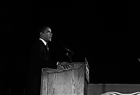 Highland, Indiana, October 31 2008.Senator and Democrat presidential candidate Barack Obama electrifies the crowd with a powerful speech, 4 days before the election.