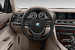 Steering wheel view of a 2013 BMW 7 Series 4dr Rear-Wheel Drive Sedan 750Li