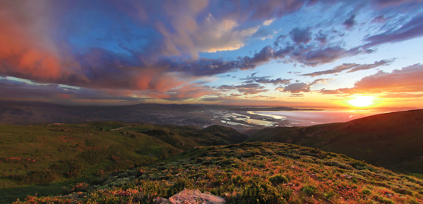Sunset from Bountiful Peak in the Wasatch Mountains.