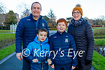Enjoying a stroll in the Tralee town park on Sunday, l to r: Gavin, Siobhan, Ruairí and Gearoid Lacey