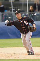 June 8, 2008: Fresno Grizzlies' Julio Cordido fires a throw to first base during a Pacific Coast League game against the Tacoma Rainiers at Cheney Stadium in Tacoma, Washington.