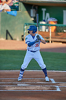 Ryan Ward (36) of the Ogden Raptors at bat against the Missoula Osprey at Lindquist Field on August 12, 2019 in Ogden, Utah. The Raptors defeated the Osprey 4-3. (Stephen Smith/Four Seam Images)