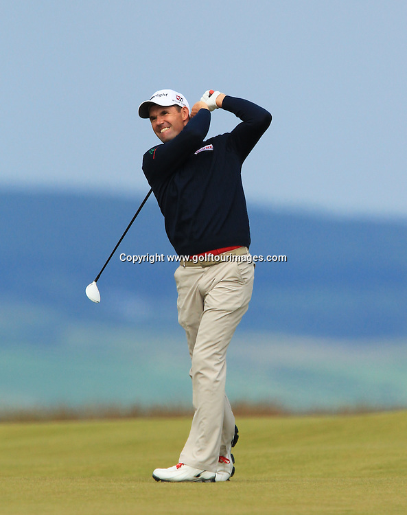 Padraig Harrington (IRL) during the third round of the 2012 Aberdeen Asset Management Scottish Open being played over the links at Castle Stuart, Inverness, Scotland from 12th to 15th July 2012:  Stuart Adams www.golftourimages.com:14th July 2012