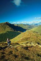 Beinn an Lochain and Loch Restil from Ben Donich, the Arrochar Alps, Loch Lomond and the Trossachs National Park, Argyll & Bute