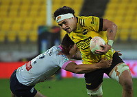 Hurricanes' Du'Plessis Kirifi in action during the Super Rugby Tran-Tasman match between the Hurricanes and Rebels at Sky Stadium in Wellington, New Zealand on Friday, 21 May 2020. Photo: Dave Lintott / lintottphoto.co.nz