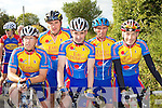 Earl of Desmond cyclists l-r: Com Mannix, Pio Boyle, Michael Leahy, Paul Lynch, Barry Murphy at the County Cycling Championships in Cordal on Saturday