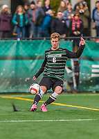 15 November 2015: Binghamton University Bearcat Midfielder Mike Kubik, a Junior from Wallington, NJ, in action against the University of Vermont Catamounts at Virtue Field in Burlington, Vermont. The Bearcats fell to the Catamounts 1-0 in the America East Championship Game. Mandatory Credit: Ed Wolfstein Photo *** RAW (NEF) Image File Available ***