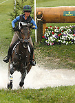 LEXINGTON, KY - APRIL 30: #48 LCC Barnaby and Lillian Heard compete in the Cross Country Test for the Rolex Kentucky 3-Day Event at the Kentucky Horse Park.  April 30, 2016 in Lexington, Kentucky. (Photo by Candice Chavez/Eclipse Sportswire/Getty Images)