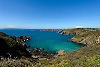 Bucht la Grande Grève mit Brecqhou Island, Insel Sark, Kanalinseln