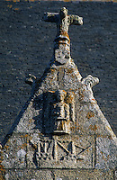 """Europe/France/Bretagne/29/Finistère/Penmarc'h : Caravelle gravée sur les murs de l'église """"Saint-Nona"""""""