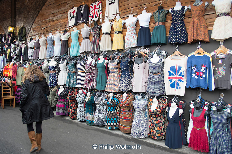 A stall in the Camden Lock Village Market, which will become inaccessible for 14 months under current plans for the HS2 high speed rail link.