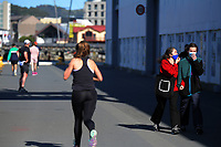 Wellington waterfront at 2pm during Level 4 lockdown for the COVID-19 pandemic in Wellington, New Zealand on Wednesday, 25 August 2021.