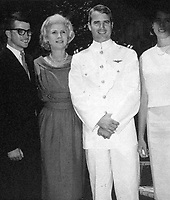 Washington, DC - (FILE) -- Photo from the office of United States Senator John McCain (Republican of Arizona), the presumptive 2008 Republican nominee for President of the United States, taken on July 3, 1965 in Philadelphia showing his mother, Roberta McCain, left center, and her son John S. McCain III, right center.<br /> CAP/MPI/RS<br /> ©RS/MPI/Capital Pictures