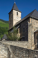 France, Pyrénées-Atlantiques (64), Béarn, vallée d'Aspe, Borce: L'église Saint-Michel//  France, Pyrenees Atlantiques ,Bearn, Aspe Valley, Borce: The church