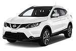 2014 Nissan Qashqai Tekna 5 Door SUV angular front stock photos of front three quarter view