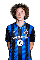 20th August 2020, Brugge, Belgium;  Maxim De Cuyper pictured during the team photo shoot of Club Brugge NXT prior the Proximus league football season 2020 - 2021 at the Belfius Base camp