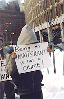 Protest of Immigration and Naturalization Service ( INS ) regulation requiring registration and detention of immigrants, Boston MA 1.9.03
