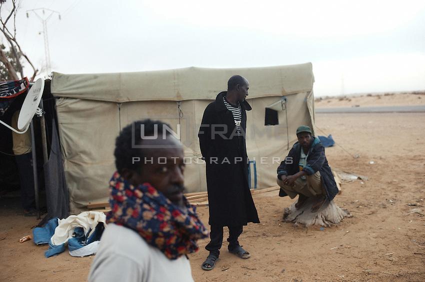 Refugees fleeing the Lybian war