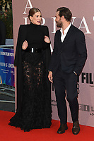 "Rosamund Pike and Jamie Dornan<br /> arriving for the London Film Festival screening of ""A Private War"" at the Cineworld Leicester Square, London<br /> <br /> ©Ash Knotek  D3451  20/10/2018"