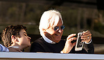 OCT 27: bob Baffert with son Bode at Santa Anita Park in Arcadia, California on Oct 27, 2019. Evers/Eclipse Sportswire/Breeders' Cup