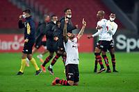 10th June 2021; Beira-Rio Stadium, Porto Alegre, Brazil; Copa do Brazil, Internacional versus Vitoria; Fernando Neto of Vitória celebrates their win after full time