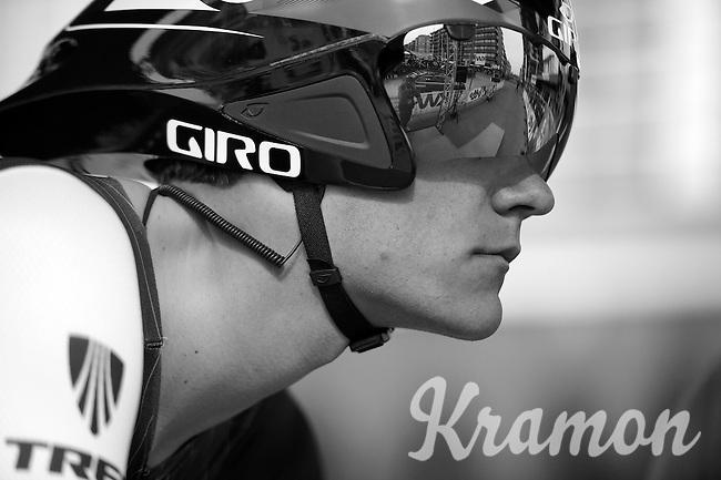 Jasper Stuyven (BEL) ready to head out on the start podium<br /> <br /> 3 Days of West-Flanders 2014<br /> day 1: TT/prologue Middelkerke 7,0 km