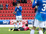 St Johnstone v St Mirren…27.10.18…   McDiarmid Park    SPFL<br />Tony Watt reacts after putting his shot wide<br />Picture by Graeme Hart. <br />Copyright Perthshire Picture Agency<br />Tel: 01738 623350  Mobile: 07990 594431