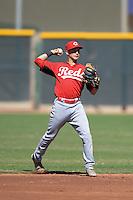 Cincinnati Reds shortstop Nadir Ljatifi (37) during an Instructional League game against the Texas Rangers on October 3, 2014 at Surprise Stadium Training Complex in Surprise, Arizona.  (Mike Janes/Four Seam Images)