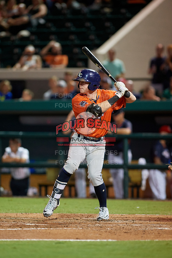 Charlotte Stone Crabs Jake Cronenworth (9) bats during the Florida State League All-Star Game on June 17, 2017 at Joker Marchant Stadium in Lakeland, Florida.  FSL North All-Stars defeated the FSL South All-Stars  5-2.  (Mike Janes/Four Seam Images)