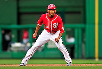 22 April 2010: Washington Nationals' center fielder Justin Maxwell in action against the Colorado Rockies at Nationals Park in Washington, DC. The Rockies shut out the Nationals 2-0 gaining a 2-2 series split. Mandatory Credit: Ed Wolfstein Photo