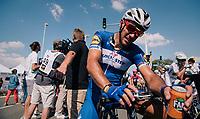 Philippe Gilbert (BEL/Quick Step floors) post-race<br /> <br /> Stage 2: Mouilleron-Saint-Germain > La Roche-sur-Yon (183km)<br /> <br /> Le Grand Départ 2018<br /> 105th Tour de France 2018<br /> ©kramon