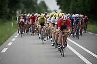 Kris Boeckmans (BEL/Lotto-Soudal) leading the way<br /> <br /> stage 3: Buchten - Buchten (NLD/210km)<br /> 30th Ster ZLM Toer 2016