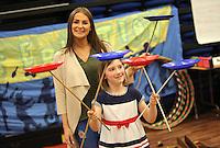 Emily Houlden with Amazon representative Erin McGeough