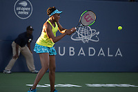 San Jose, CALIFORNIA - Friday August 3, 2018: Maria Sakkari beat Venus Williams in straight sets 6-4 7-5 to reach the semifinal at Silicon Valley Classic in San Jose.