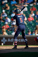 Blake Shapen (5) during the Under Armour All-America Game, powered by Baseball Factory, on July 22, 2019 at Wrigley Field in Chicago, Illinois.  Blake Shapen attends Evangel Christian Academy in Shreveport, Louisiana and is committed to Baylor University.  (Mike Janes/Four Seam Images)