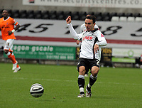 ATTENTION SPORTS PICTURE DESK<br /> Pictured: Leon Britton of Swansea<br /> Re: Coca Cola Championship, Swansea City Football Club v Blackpool at the Liberty Stadium, Swansea, south Wales. Saturday 24 October 2009
