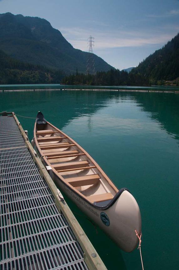 North Cascades Institute's Twelve Person Canoe on Diablo Lake,  North Cascades National Park, Washington, US