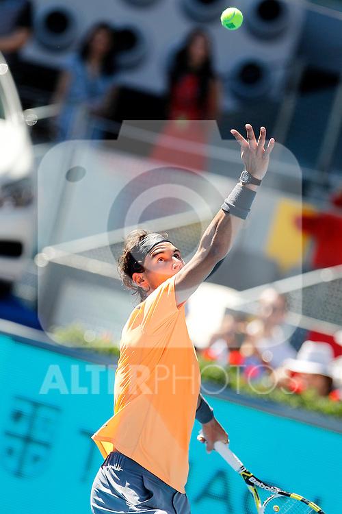Rafael Nadal during Madrid Open Tennis 2012 Match.May, 9, 2012(ALTERPHOTOS/ALFAQUI/Acero)