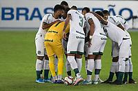 Rio de Janeiro (RJ), 20/07/2021 - BOTAFOGO-GOIÁS -  Equipe do Goiás, Partida entre Botafogo e Goiás, válida pela Série B do Campeonato Brasileiro, realizada no Estádio Nilton Santos, nesta terça-feira (20).