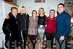 The staff of Benners Hotel enjoying their Christmas party in Bella Bia on Sunday night. L to r: Elenor Carricg, Anna Breen, Mairead Carroll, Lisa Horgan, Elaine Bailey and Ian Flaherty