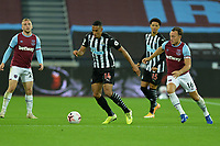 Isaac Hayden of Newcastle United during West Ham United vs Newcastle United, Premier League Football at The London Stadium on 12th September 2020