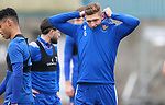 St Johnstone Training…<br />Liam Gordon pictured during training at McDiarmid Park ahead of tomorrow's Betfred Cup game against Peterhead.<br />Picture by Graeme Hart.<br />Copyright Perthshire Picture Agency<br />Tel: 01738 623350  Mobile: 07990 594431