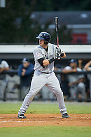 Kane Sweeney (30) of the Pulaski Yankees at bat against the Burlington Royals at Burlington Athletic Park on August 6, 2015 in Burlington, North Carolina.  The Royals defeated the Yankees 1-0. (Brian Westerholt/Four Seam Images)