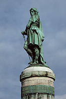Europe/France/Bourgogne/29/Côte-d'Or/Alise Sainte Reine: La statue de Vercingetorix par Miller