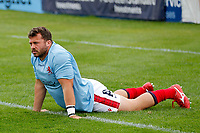 Jordan Brodley of London Scottish during the Championship Cup match between London Scottish Football Club and Nottingham Rugby at Richmond Athletic Ground, Richmond, United Kingdom on 28 September 2019. Photo by Carlton Myrie / PRiME Media Images