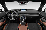 Stock photo of straight dashboard view of 2021 Mazda MX-30 Skycruise 5 Door SUV Dashboard