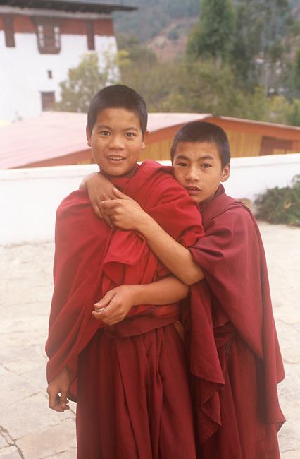 Young Monks, Punakha, Bhutan