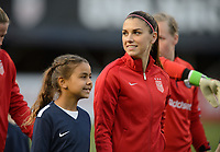 San Diego, Ca - Sunday, January 21, 2018: Alex Morgan and Player Escorts during a USWNT 5-1 victory over Denmark at SDCCU Stadium.